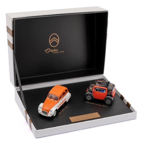 (代購) CITROEN 2 CV & AMI ONE 概念車  1:43 模型車紀念禮盒 CITROEN