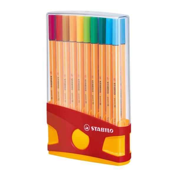 STABILO思筆樂 樂點88多用途細緻彩繪筆組 20色