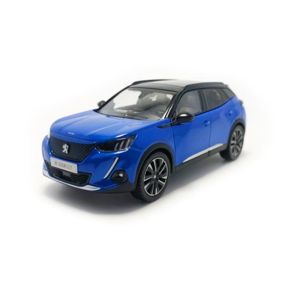 PEUGEOT e-2008 GT 炫目藍 1:43 模型車 PEUGEOT, 寶獅, 模型車