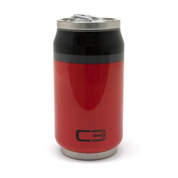 (代購) C3 紅色罐頭造型保溫杯 CITROEN, 雪鐵龍