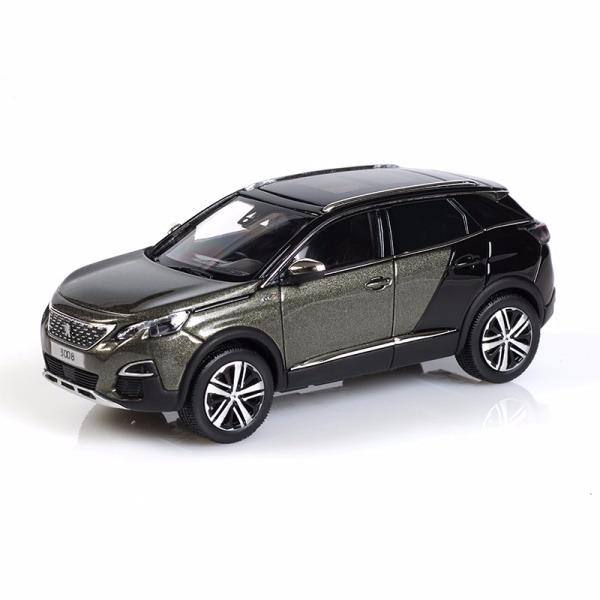 3008 SUV GT 亞麻灰 x 珍珠黑 1:43 模型車 PEUGEOT, 寶獅, 模型車