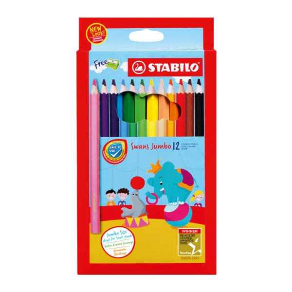 STABILO思筆樂 Jumbo特大油性色鉛筆 粗字/粗體 高密度