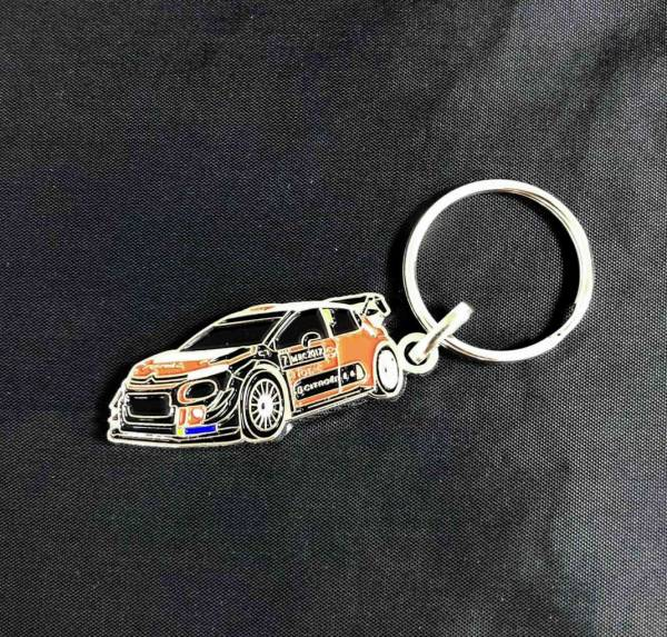 C3 WRC MONDIAL 造型金屬鑰匙圈 CITROEN, CITROËN, 雪鐵龍, 鑰匙圈