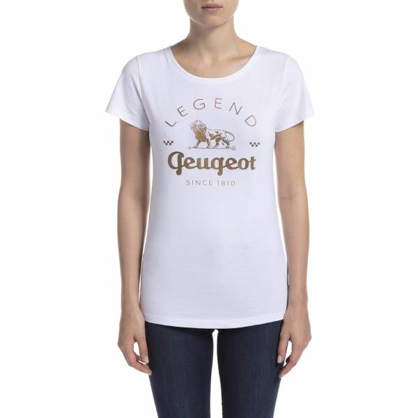 (代購) PEUGEOT LEGEND 系列 T-Shirt 白色 PEUGEOT, 寶獅