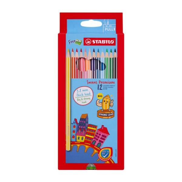 STABILO思筆樂 Swans Premium Edition優質版油性色鉛筆