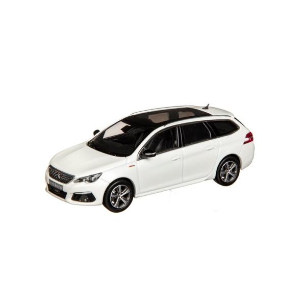(代購) 308 SW GT LINE 2017 珍珠白 1:43 模型車