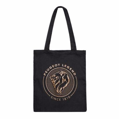 PEUGEOT LEGEND 系列 棉質手提袋 黑 PEUGEOT, 寶獅