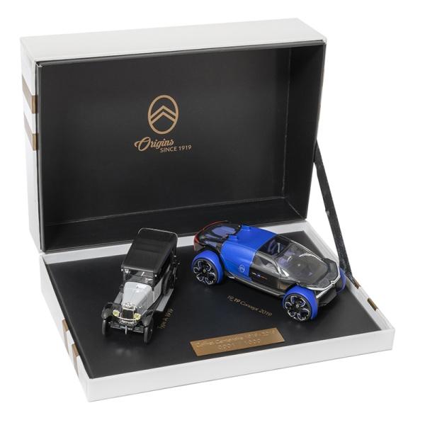 (代購) CITROEN TYPE A & 19_19 概念車 1:43 模型車紀念禮盒 PEUGEOT, 寶獅, 模型車