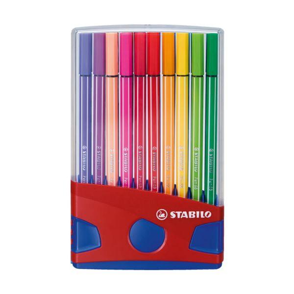 STABILO思筆樂 樂朋68 彩色筆展開式膠盒裝 20色