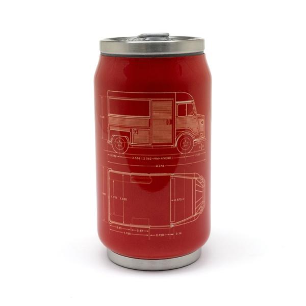(代購) 經典 TYPE H 罐頭造型保溫杯 CITROEN, 雪鐵龍