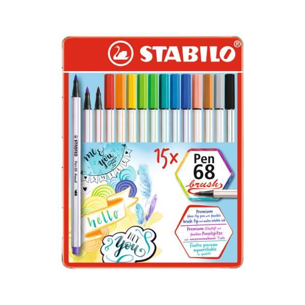 STABILO思筆樂Pen 68 brush樂朋68彩繪毛筆