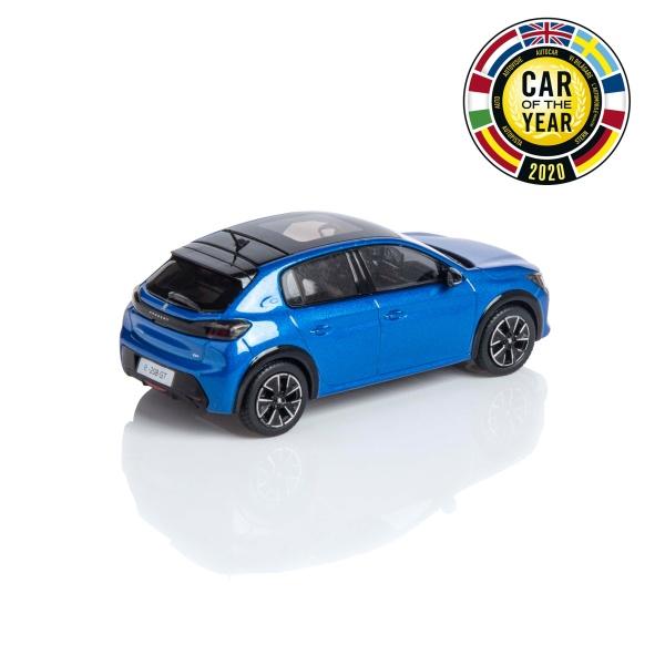 (代購) PEUGEOT e-208 GT 炫目藍 1:43 模型車 PEUGEOT, 寶獅, 模型車
