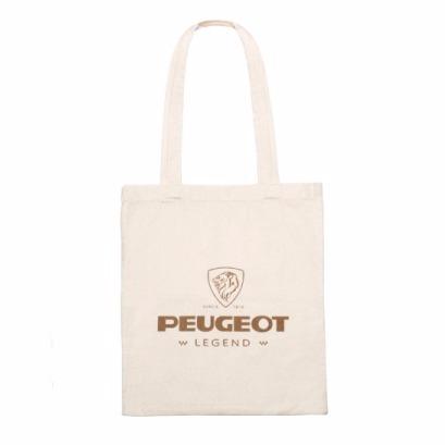 PEUGEOT LEGEND 系列 棉質手提袋 白 PEUGEOT, 寶獅