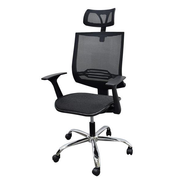 電腦椅 辦公椅 書桌椅 主管椅 凱堡 史考特頭靠方網背後收扶手鐵腳全網電腦椅 一年保固 【A15872】 電腦椅, 辦公椅, 電競椅, 升降椅