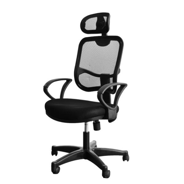 辦公椅 主管椅 人體工學椅 三服貼高背頭枕透氣網背辦公椅 凱堡家居【A20013】 電腦椅, 辦公椅, 電競椅, 升降椅