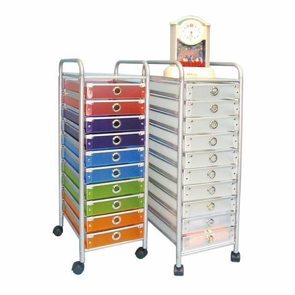 10抽活動櫃(彩色)