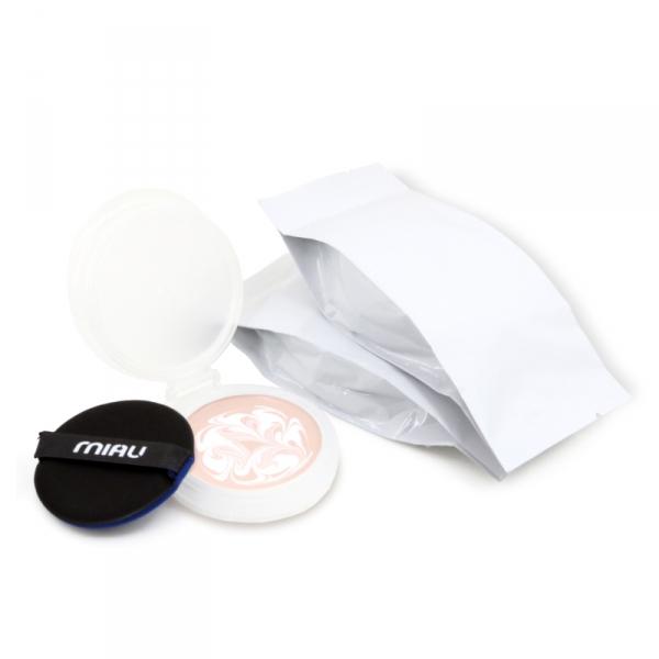 MIAU童顏精華安瓶粉餅補充包3入(每包內含粉餅x1粉撲x1)|光澤+透亮+控油+遮瑕+不黏膩