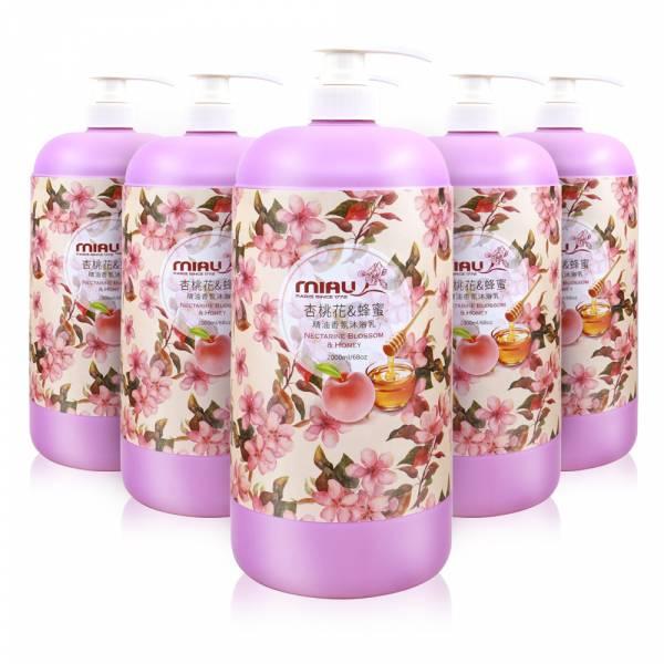 MIAU杏桃花與蜂蜜精油香氛沐浴乳2000ml/買3送3/共6瓶