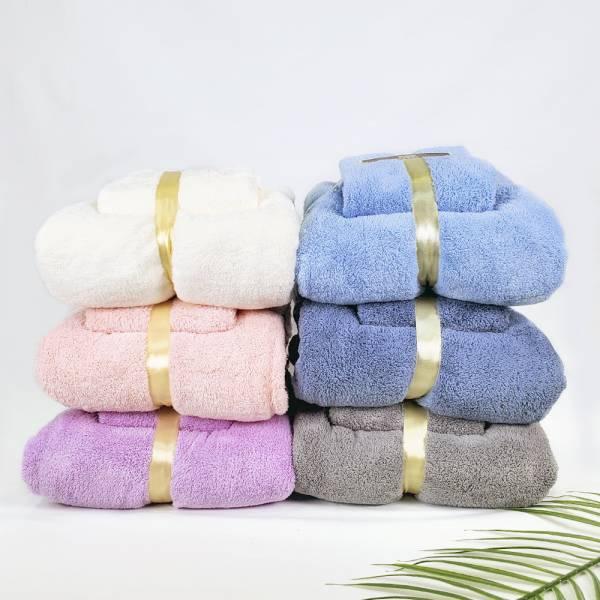 MIAU高密度珊瑚絨速乾浴巾組/密度升級/吸水力超強/瞬吸速乾抗菌/精緻收邊不掉毛(不挑色隨機出貨)