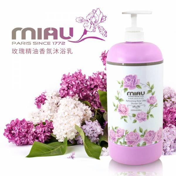 MIAU玫瑰香氛精油沐浴乳(6入)2000ml大容量