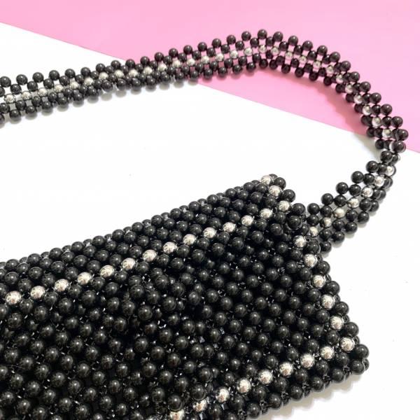 BKK黑色珠珠腰包