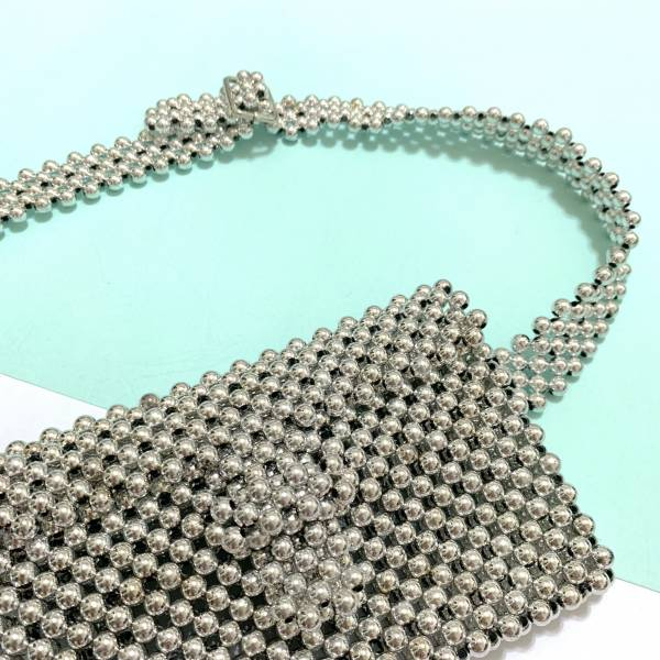 CLEARLY A WINNER BEADED BELT BAG-SILVER