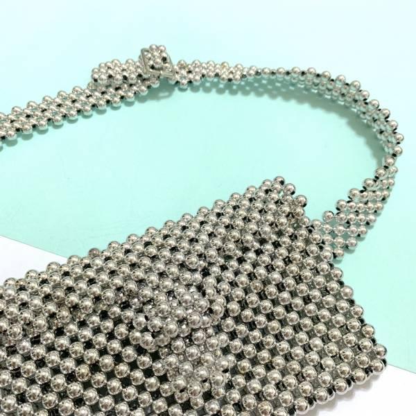 銀色珠珠腰包