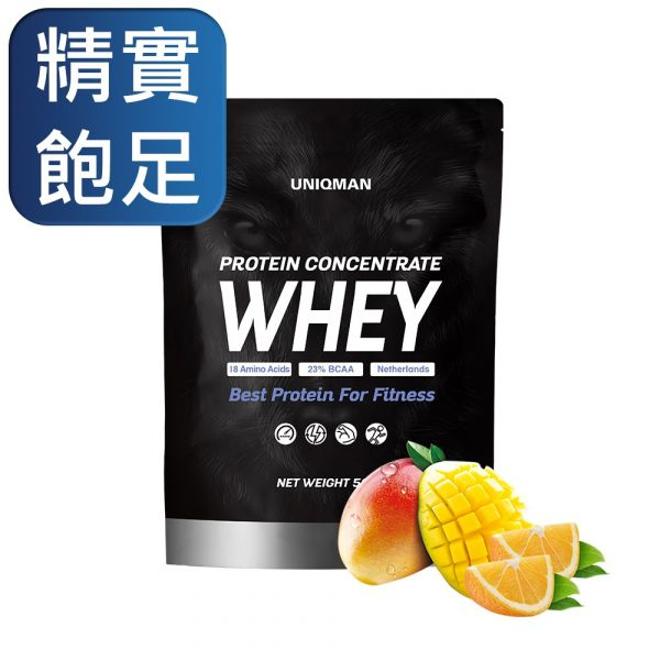UNIQMAN Whey Protein Concentrate - Juice Flavor (500g/bag) 乳清蛋白、Whey Protein、增肌