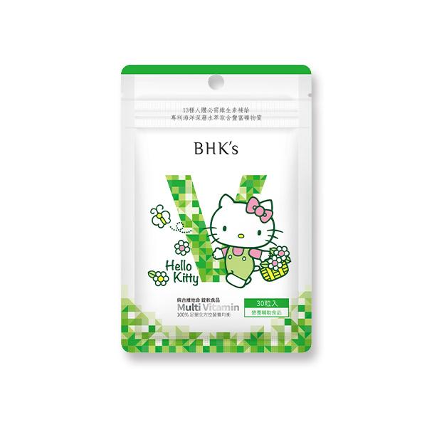 【春暖花開】BHK's 綜合維他命錠 (30粒/袋)♥Hello Kitty 綜合維他命,HelloKitty,綜合維生素,Kitty聯名,綜合維他命推薦