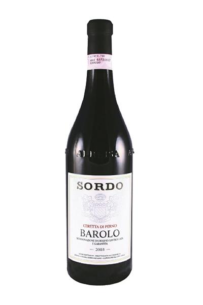 Barolo DOCG Ceretta 2003義大利梭多葡萄酒 BAROLO,DOCG,SORIGABUTTI,2003,SORDO,梭多酒莊,Italy