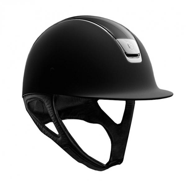 SAMSHIELD 訂製款騎士帽 (霧黑/亮黑頂/銀框/銀牌/L) 不含帽襯,需另外加購