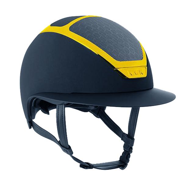 KASK 透氣騎士帽 (藍色/檸檬黃漆面框/M/57/58/59)