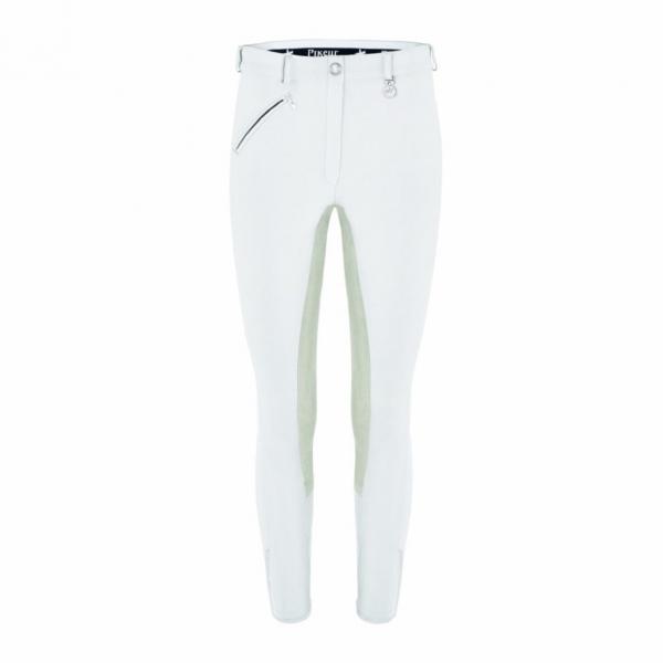 PIKEUR 孩童馬褲 (全皮/魔鬼沾/白色)