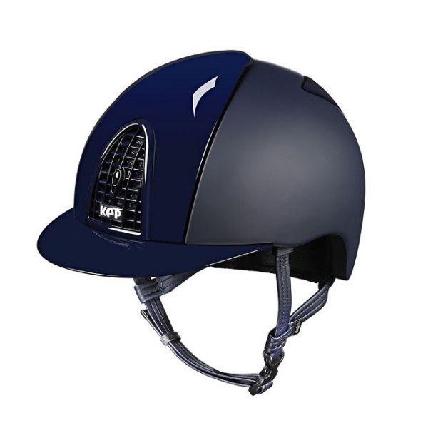 KEP 透氣騎士帽 (平光藍/亮面飾板/L/59/60/61/62)