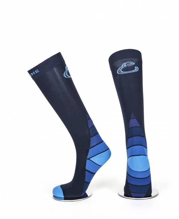 EQUILINE 騎馬長筒襪 (藍色)