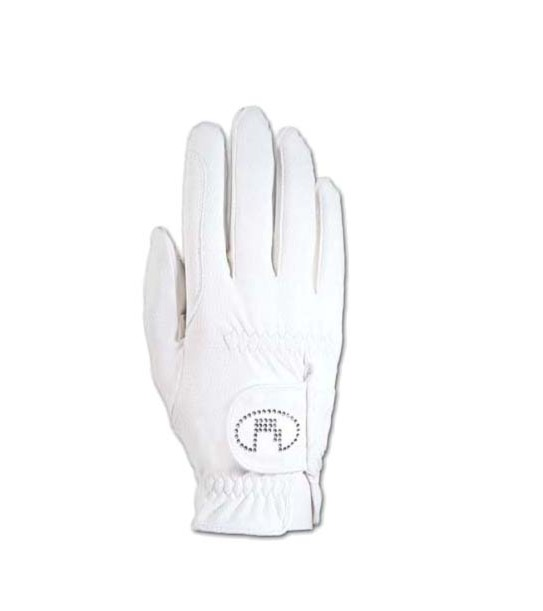Roeckl 騎馬專用手套 (PU防滑/鑲鑽/白色/2款可選)