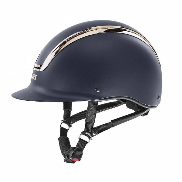 UVEX 透氣騎士帽 (霧藍盔/珊瑚金框/M-L)