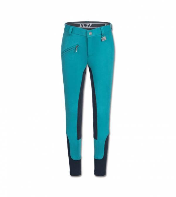 ELT 孩童馬褲 (全皮/彈性縮口/藍綠色)