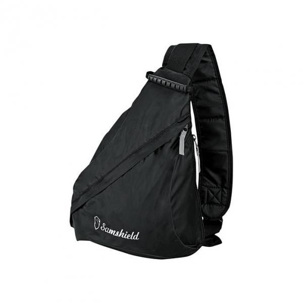 SAMSHIELD 騎士帽斜背包 (黑色/單肩)