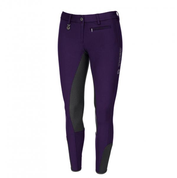 PIKEUR 女用馬褲  (止滑全皮/彈性縮口/紫色/撞色款)
