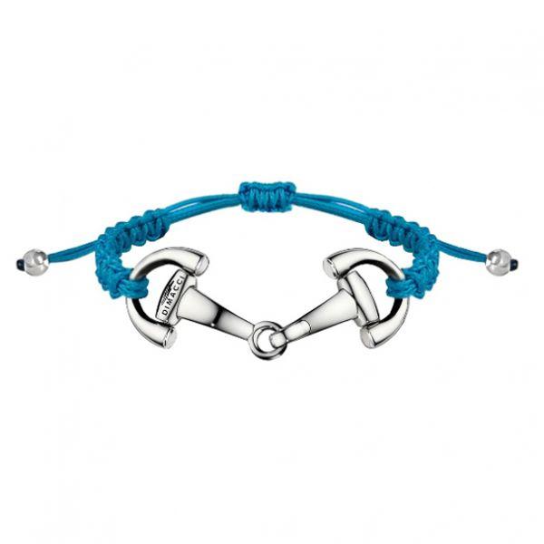DIMACCI 可調式編織手環 (銀色口銜造型/藍色)