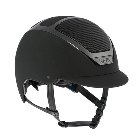 KASK 透氣騎士帽 (黑色/銀黑框/XS/54)