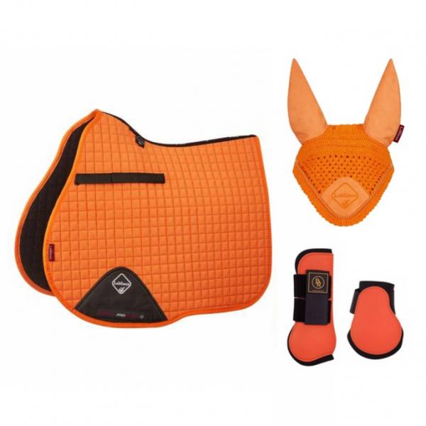 LeMieux 綜合障礙汗墊+護具+耳罩套組 (橘色)