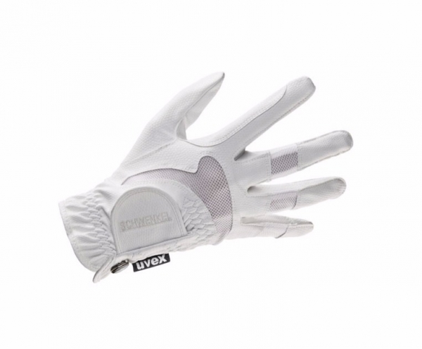 UVEX 彈性透氣騎馬手套 (白色/尺寸6~10)