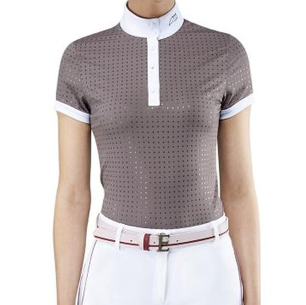 EQUILINE 女用比賽衫 (S/棕紫色)