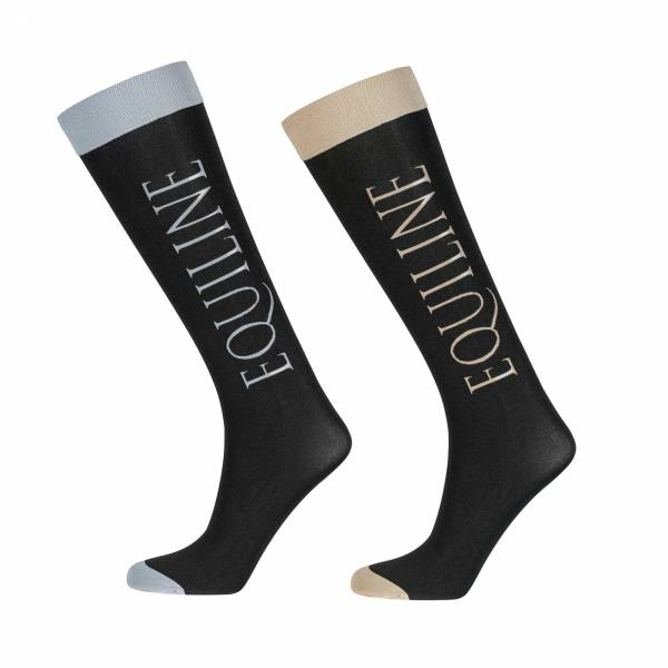 EQUILINE 騎馬長筒襪 (EQUILINE字樣/黑色/兩款可選/一組三雙/ONE SIZE)