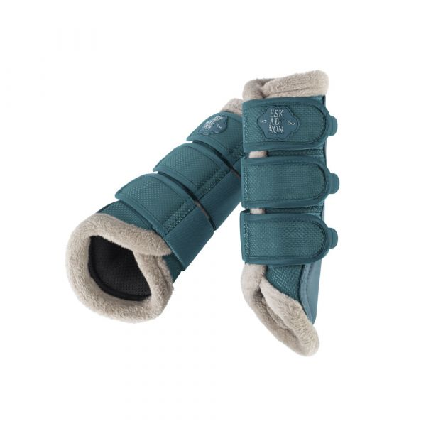 ESKADRON 馬場馬術護具 (仿羊毛包邊/藍綠色/L)