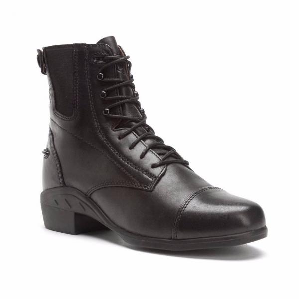 ARIAT 女短筒皮靴 (第一代/鞋帶拉鍊設計/黑色)