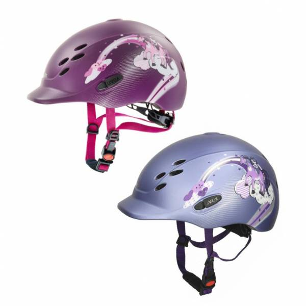 UVEX 兒童透氣騎士帽 (2色可選/彩虹馬圖樣/49-54cm)