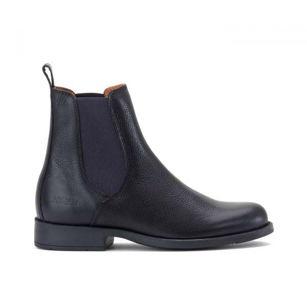 AIGLE 短筒皮靴 (鬆緊設計/黑色/35-44)